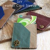 Leather Card Sleeve - Free Tutorial | Craft Passion - Page 2 of 2
