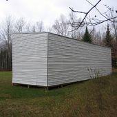 Cabane construite avec des palettes recyclées