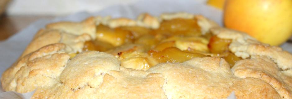 Tarte à l'ancienne pomme et miel