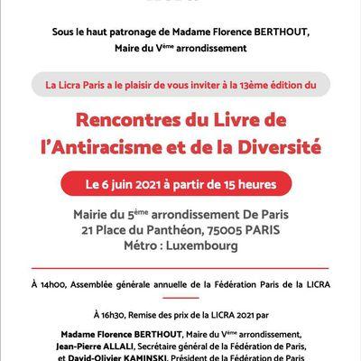 Le dimanche 6 juin de 15 à 19h à la mairie du 5 ème arrondissement