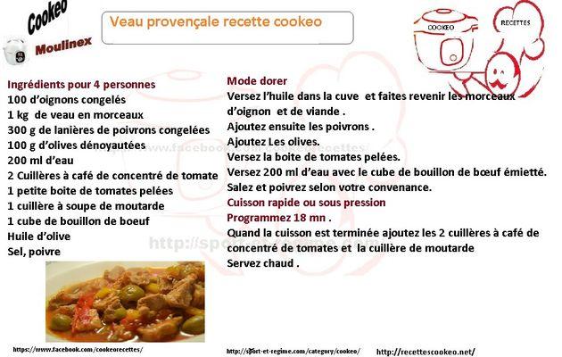 Fiche cookeo veau provençale