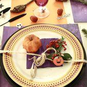 Décoration de table spécial Halloween - anniecartonne.overblog.com