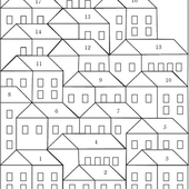 Pretty Little Quilts: Hillside Houses Coloring Sheet