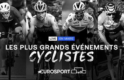 Le cyclisme à l'honneur sur Eurosport durant tout le mois de mars (calendrier)