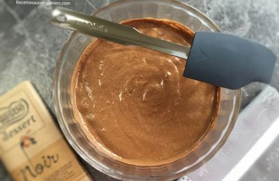 Mousse au chocolat sans beurre sans sucre magimix/companion