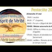 La messe solennelle de Pentecôte dimanche 31 mai 2020