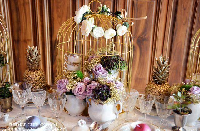Un Tea Time autour du mariage à la Villa Guy | Location Vaisselle Vintage