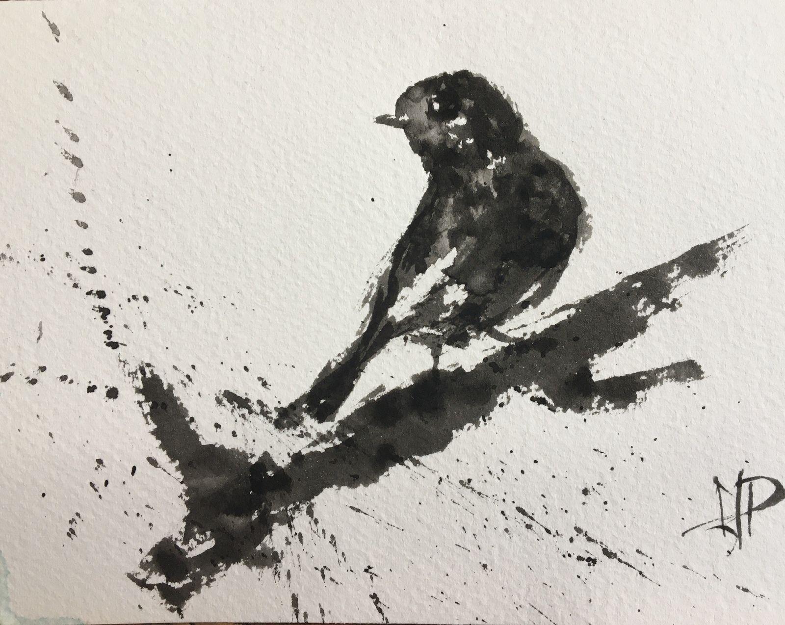 Oiseaux (Sumi-e)
