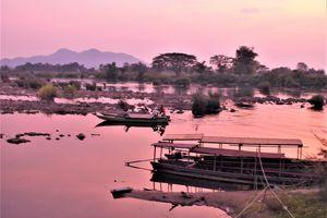 """Laos du sud (5) ... Mon arrivée aux """"4 000 Îles""""  au sud du Laos"""