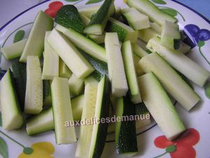 frites de courgette épicées au four -LIGHT-