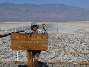 Badwater le point le plus bas d'Amérique