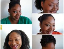 5 coiffures à partir d'un Twist out