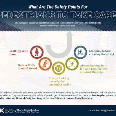 What Are The Safety Points For Pedestrians To Take Care?