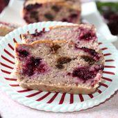 Cake d'avoine aux mûres - Chez Vanda