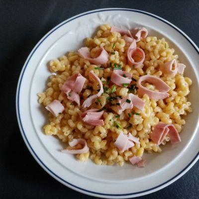 Risotto de coquillettes au jambon au cookéo (inspiration Cyril Lignac)