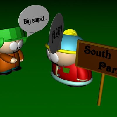 South Park characters in 3D max