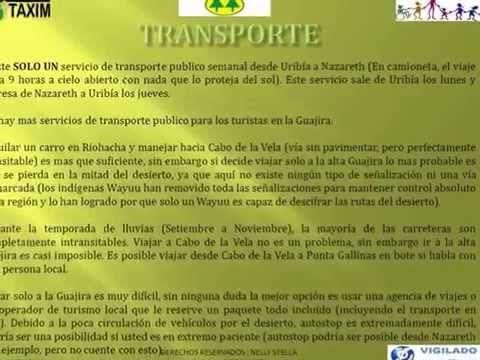 DESTINO VIGENTE DE TURISMO DE EXPORTACIÓN ACCESIBLE  EN LA ALTA GUAJIRA  -  COLOMBIA