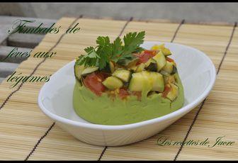 timbale de fèves aux légumes