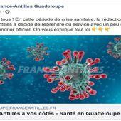 Coronavirus : France Antilles Guadeloupe reprend du service sur internet - Outre-mer la 1ère