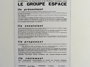 Sapce group revue and Space group manifesto (1951)