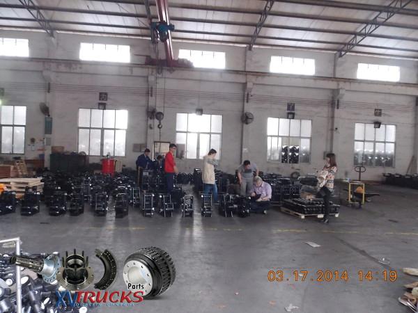 Fabrication Controle qualite - Expedition essieux semi remorques , remorques , camions Chine , Pieces Detachees .: info@xvtrucks.com