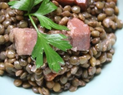Salade de lentilles (Lentils salad)
