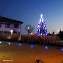 illuminations rue principale de Savigneux (42600, Loire)