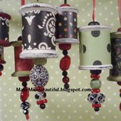 Blackberry House blog retail shop projects and painted furniture: Darling Thread Spool Christmas Ornaments - A Complete Tutorial