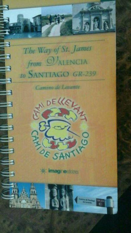 Le guide du Camino Levante de l'amicale locale.