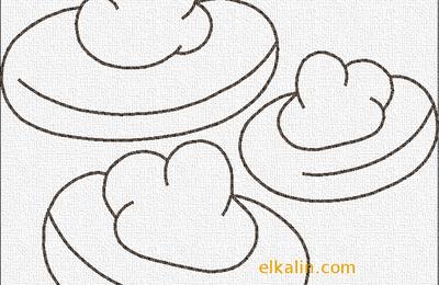 Redwork 7: petits gâteaux