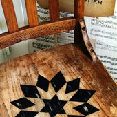 A Quilt Inspired Wooden Chair and a Childhood Story - Knick of Time