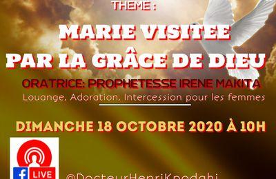 Invitation au culte en direct du 18 octobre 2020 : Marie visitée par la grâce de Dieu à partir de 10 h 00