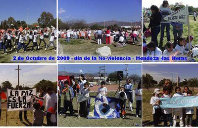 2 de OCTUBRE MENDOZA. Lanzamiento de la Marcha Mundial por la Paz y la No Violencia.