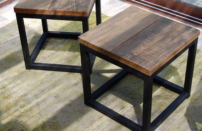 Bouts de canapé métal et chêne