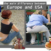 Humour String coquin: Europe vs USA - Doc de Haguenau