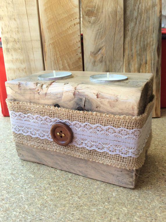 Création artisanale : une bougie en bois massif