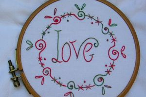 Broderie traditionnelle : Love