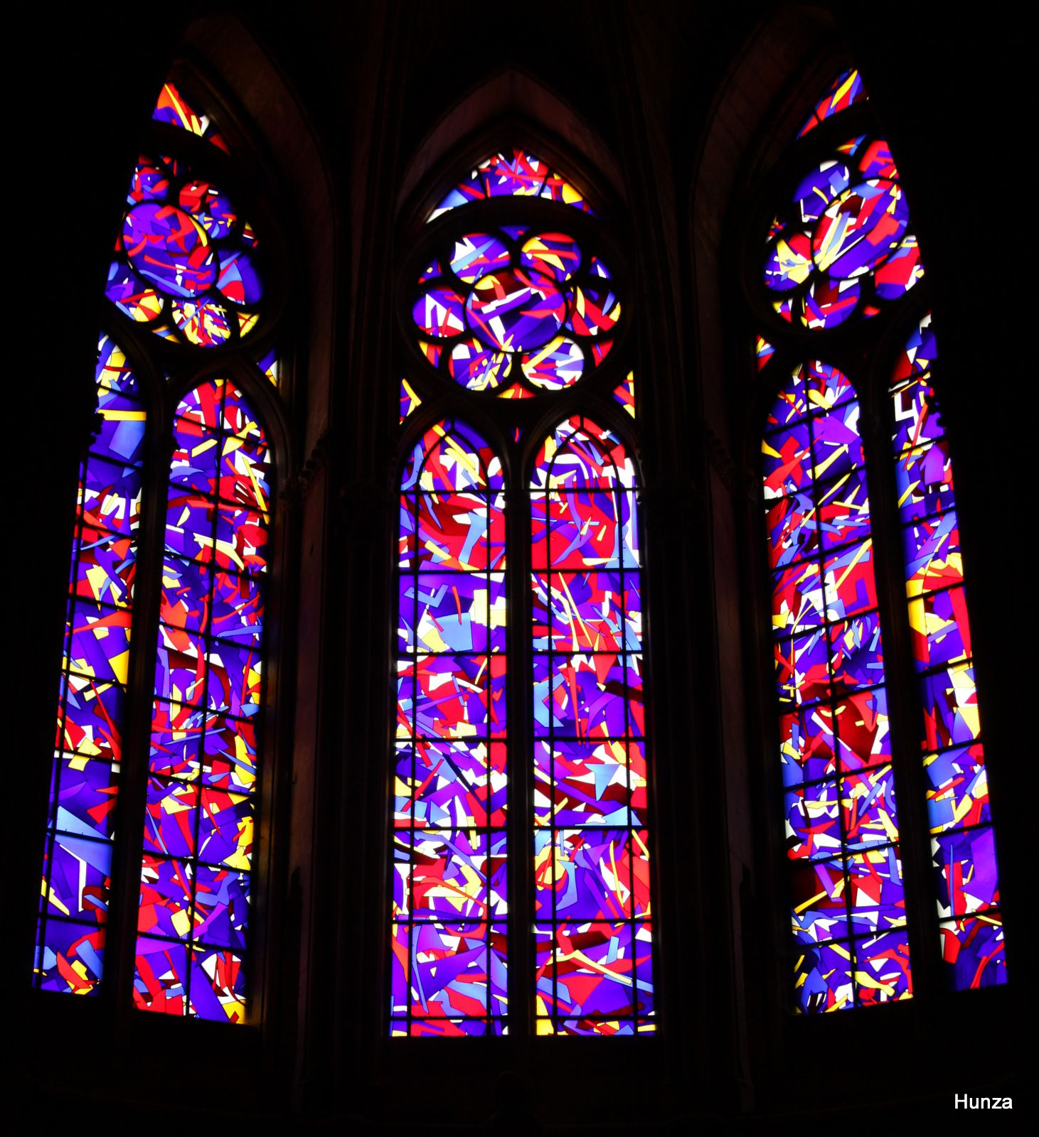 Cathédrale de Reims, vitraux d'Imi Knoebel
