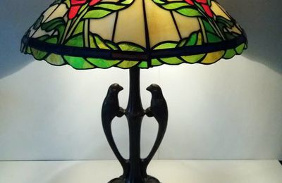 "Lampe tiffany "" Callas rouges """