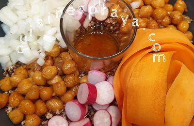 Bowl au quinoa, carotte et radis
