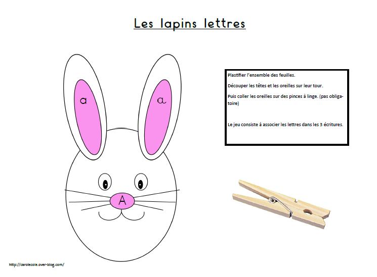 Lettres lapins et couleurs lapins