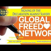 Signing of the Declaration against Slavery 2014.12.02