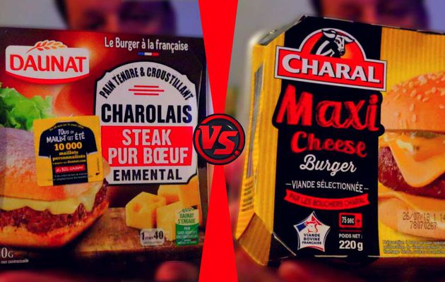 DÉGUSTATION BURGER CHAROLAIS DAUNAT VS MAXI CHEESE CHARAL !