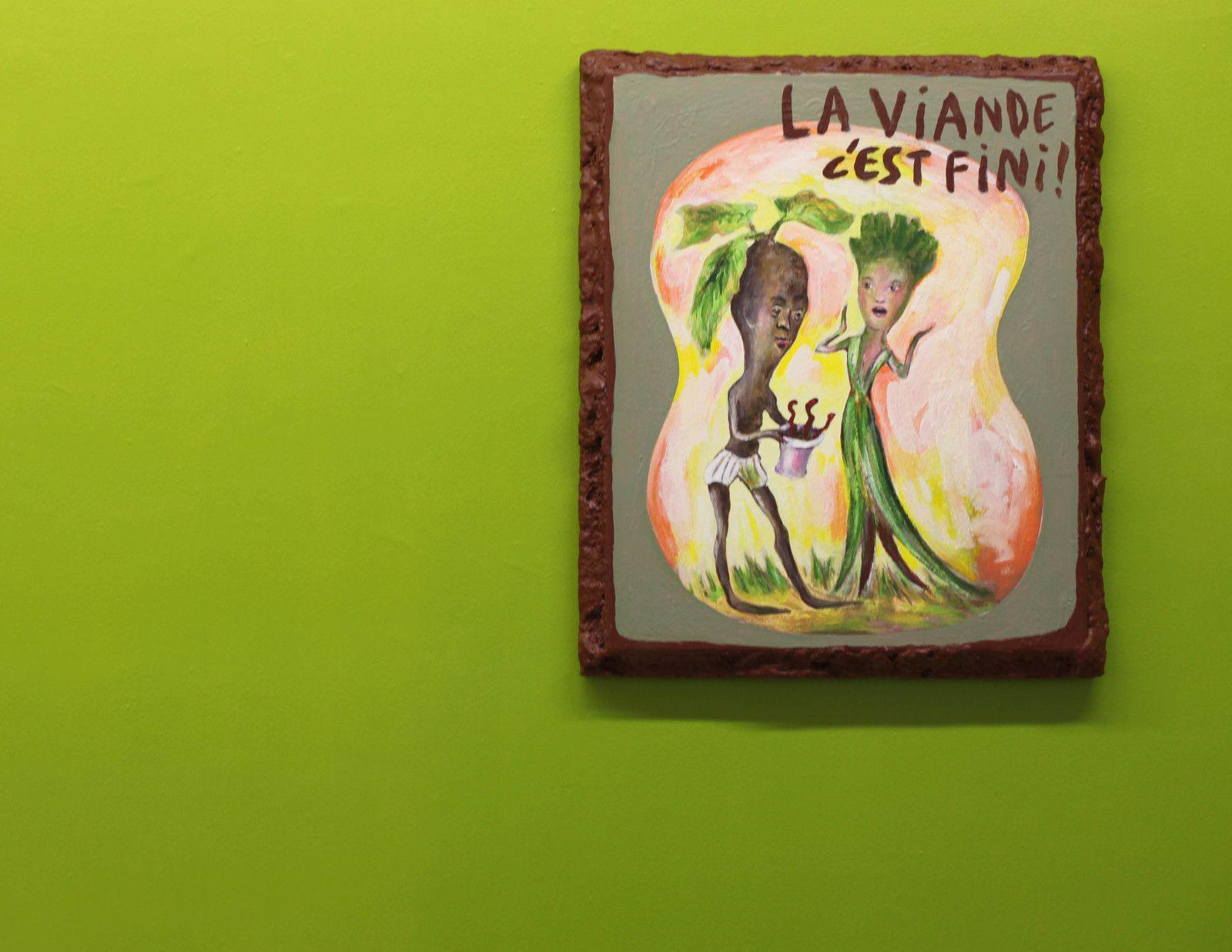 """""""La viande c'est fini !"""", 2020 de Arnaud LABELLE-ROJOUX - Courtesy de l'artiste et de la Galerie Loevenbruck © Photo Éric Simon"""