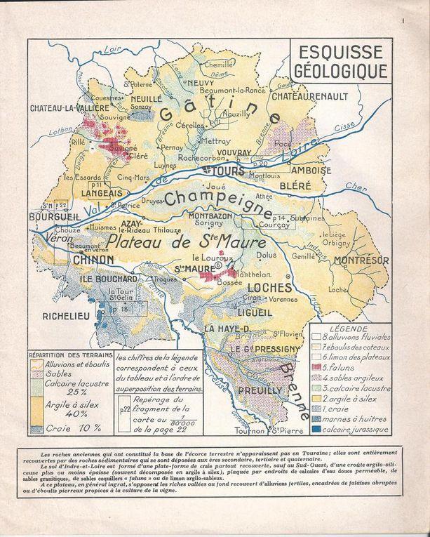 """Vue aériene des Hubaudières en avril 2006. Carte de l'Indre-et-Loire montrant où se trouve la """"Champeigne tourangelle"""""""