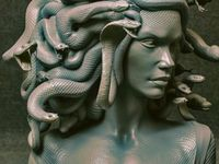 Bust of Medusa by Daniele Danko Angelozzi, 2020