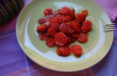 Carottes à la  sauce soja et aux graines de sésame.