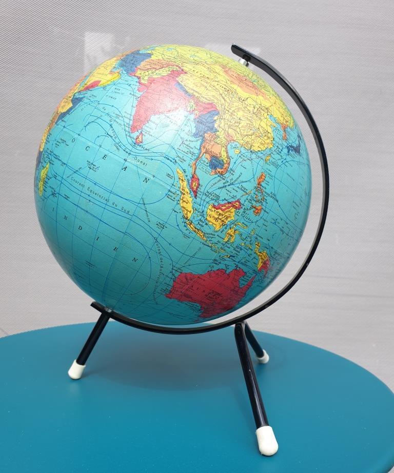 Mappemonde globe terrestre Taride 1969 - 69 euros