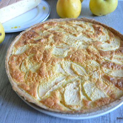Tarte au Maroilles et au pommes