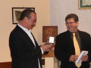 célébration des 10 ans du club le vendredi 13 février 2009 et remise de la médaille de la ville par Mr le Maire DANIEL BORIE.